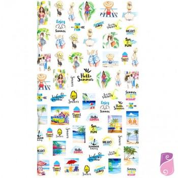 Sticker - Autocolantes para unhas de Verão 12x7cm