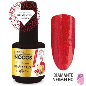 Verniz Gel Inocos Diamante Vermelho 15ml