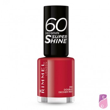 Verniz Rimmel London 60 Seconds #310 Double Decker Red 8ml