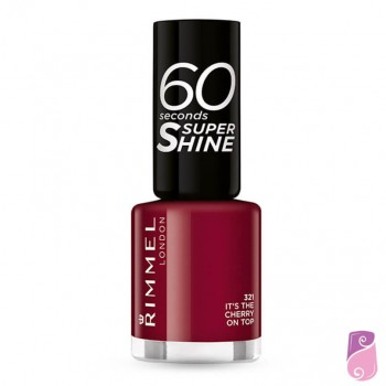 Verniz Rimmel London 60 Seconds #321 Its the Cherry on Top 8ml